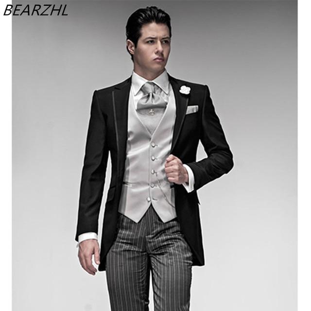 779d74da982 wedding shiny tuxedo three piece suits men groom suit dinner 3 piece suit  2016 the last design