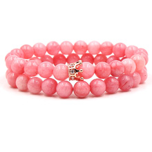 Charm Pink Crystal Natural Stone Zircon Bracelet Accessories Fashion Woman Bracelets 2019 Friendship Paired Wholesale