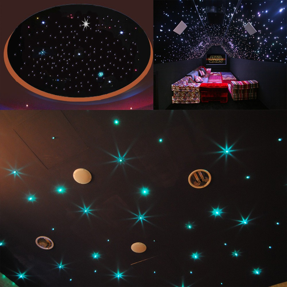Night Light With Stars On Ceiling Us 132 14 31 Off Maykit 300 Stars Nightlight Starry Sky With Cree 5w Led Fiber Optic Illuminator And 3 6m Pmma Fibres For Kids Room Decor In Optic