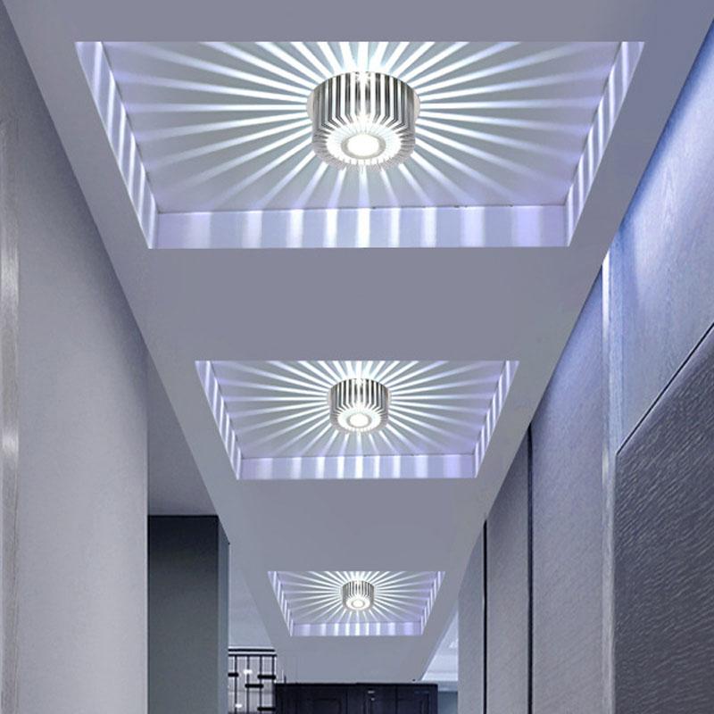 Modern Led Ceiling Light 3w Rgb Wall Sconce For Art