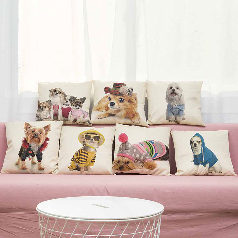 Cushion Cover animal Pillow A dog of fashion design Home Decorative Throw Pillow Cover