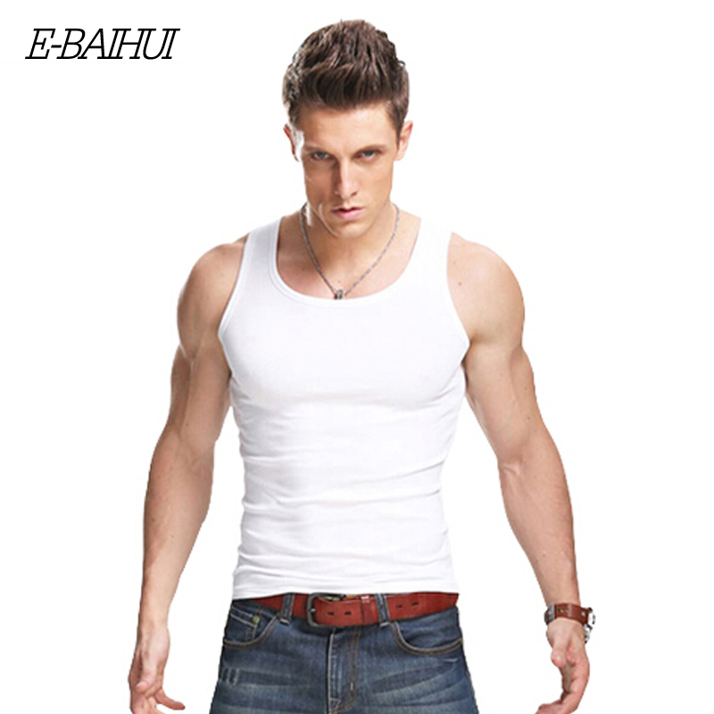 E baihui brand mens t shirts summer cotton slim fit men for Top dress shirt brands