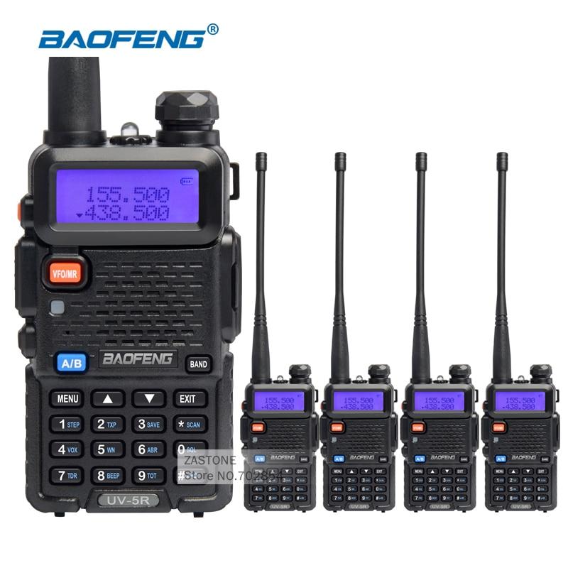 imágenes para 4 Unids/lote Original Baofeng UV5R Walkie Talkie Portátil Equipo de Policía UV 5R Comunicador Transmisor-Receptor Portátil