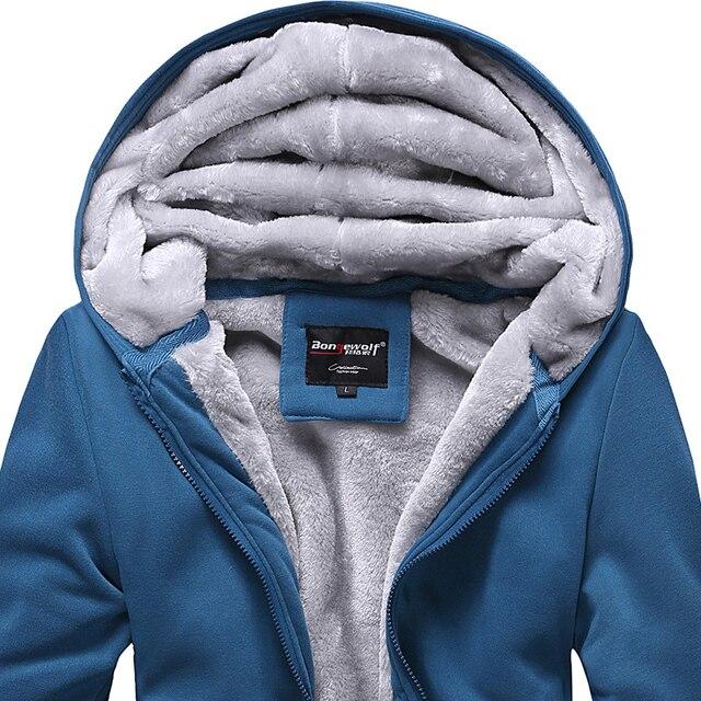 Bongo teenage autumn and winter wadded jacket coat with a hood male thickening sweatshirt plus velvet baseball uniform