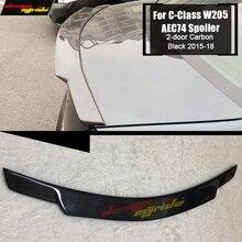 For MercedesMB W205 Tail Spoiler Wing Carbon fiber C74 Style C-Class W205 2-doors C180 C200 C250 Rear trunk spoiler wing 2015-18 недорого