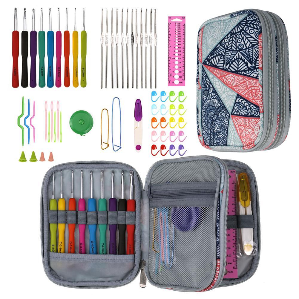 8 Pcs//Set Crochet Hooks Knitting Needles Ergonomic Crochet DIY Handmade Tools