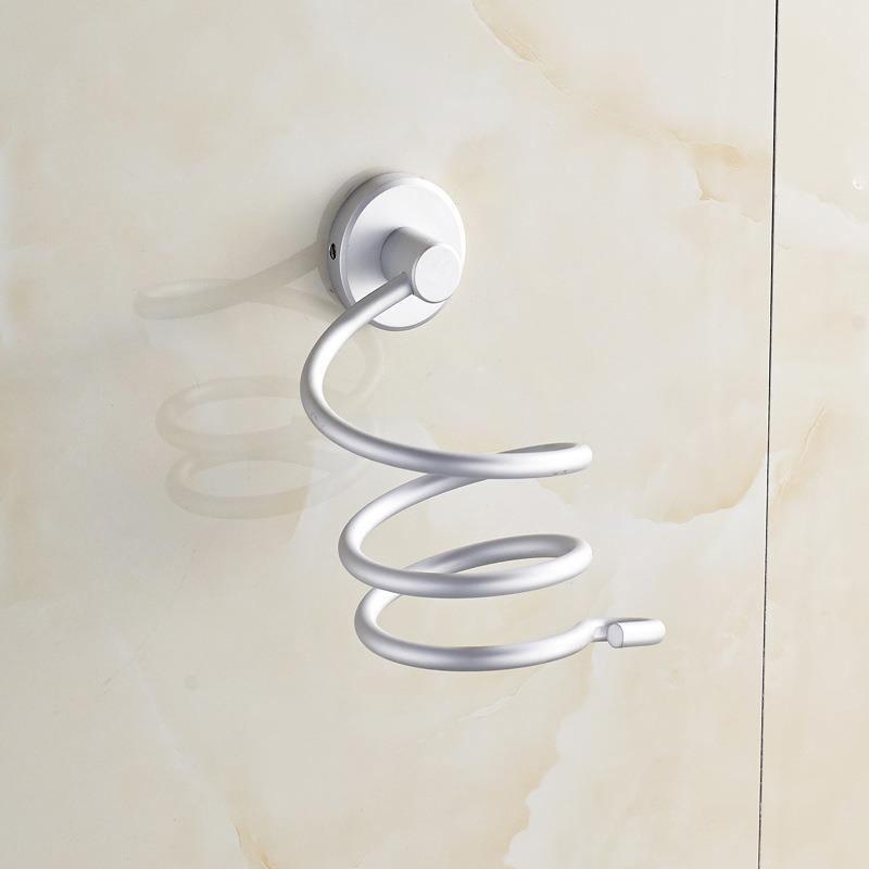 1pcs Home Wall Hair Dryer Holder Rack Storage Aluminum Bathroom Wall Storage
