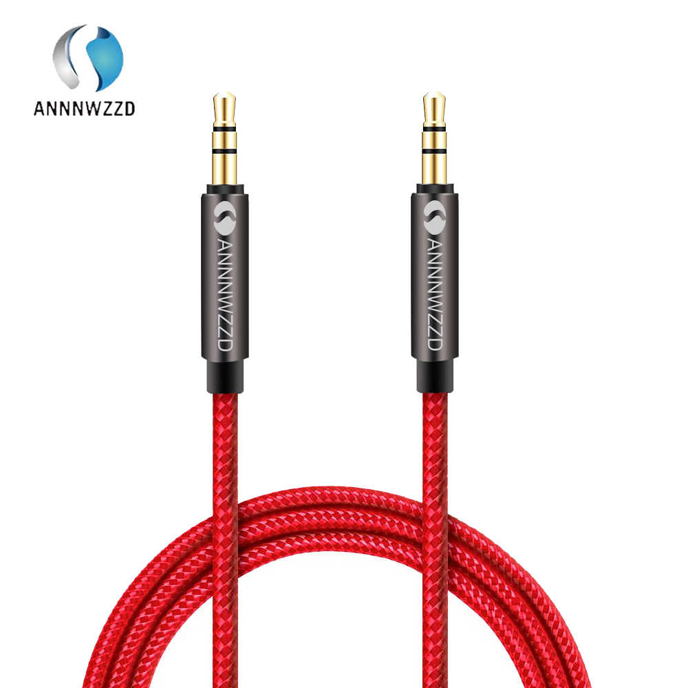 Annnwzzd 3.5 Mm Premium Auxiliary Kabel Audio AUX Kabel untuk Headphone, IPod, iPhone, iPad, home/Mobil Stereo