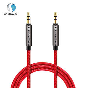 ANNNWZZD 3.5mm Premium Auxiliary Audio Cable AUX Cable for Headphones, iPods, iPhones, iPads, Home / Car Stereos