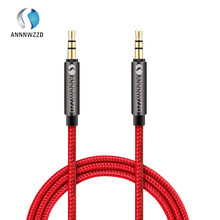 Annnwzzd 3.5 Millimetri Premium Cavo Audio Ausiliario Aux Cavo per Le Cuffie, Ipod, Iphone, Ipad, home/Car Stereo(China)