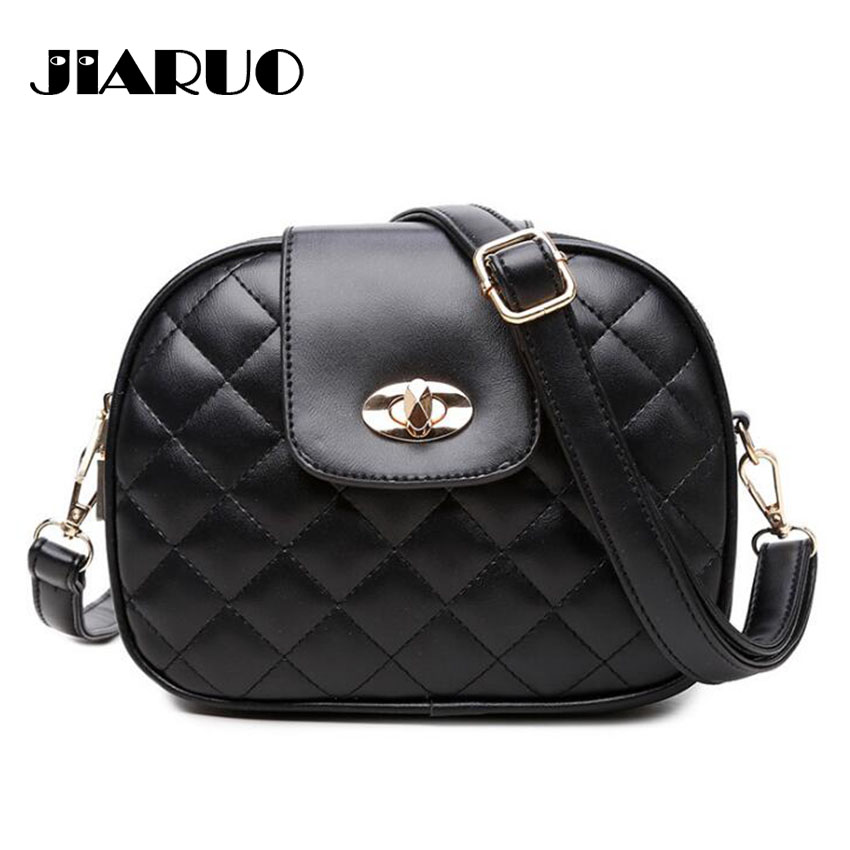 Trible Pocket Multi Pocket Women Leather Crossbody Bag Small Shoulder Bag Purses Handbag Plaid Thread