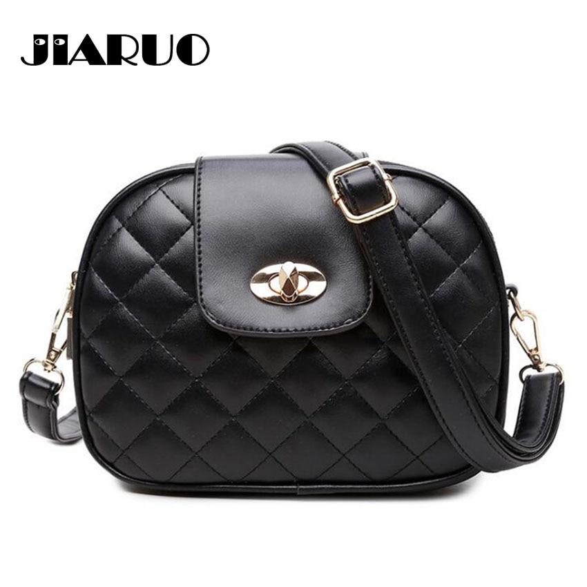 Trible Pocket Multi Pocket Women Leather Crossbody Bag Small Shoulder Bag Purses Handbag Plaid Thread