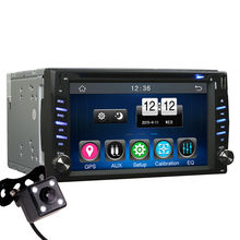 2 Din Universal Car Dash GPS Navigator Bluetooth Radio CD DVD MP3 Player Head Unit Stereos – 6.2 HD Touch Screen