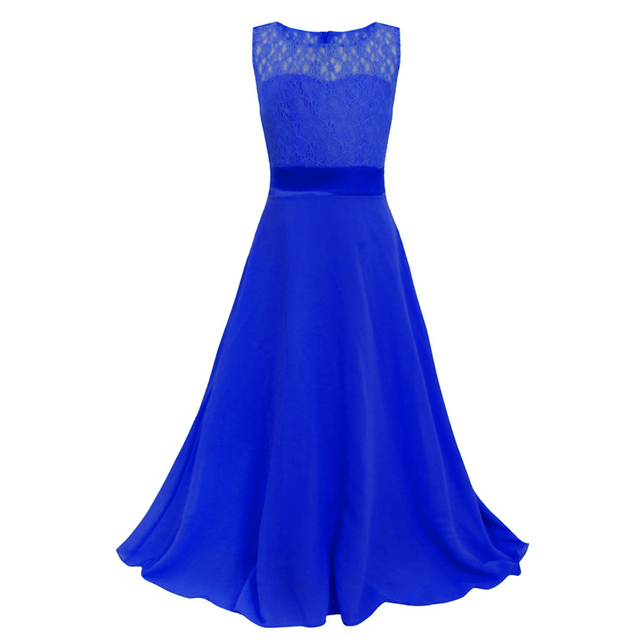 Varejo Encantador Da Menina de Flor Vestidos Com Rendas Menina Miúdo Top Grade Elegante Tule vestido de Primeira Comunhão Vestido de Festa Vestido Longo lace002