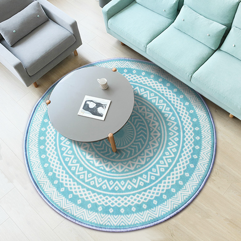 PAYSOTA Simple Creative Round Carpet Clean Bedroom Living room Rug Adornment Home Floor Mat