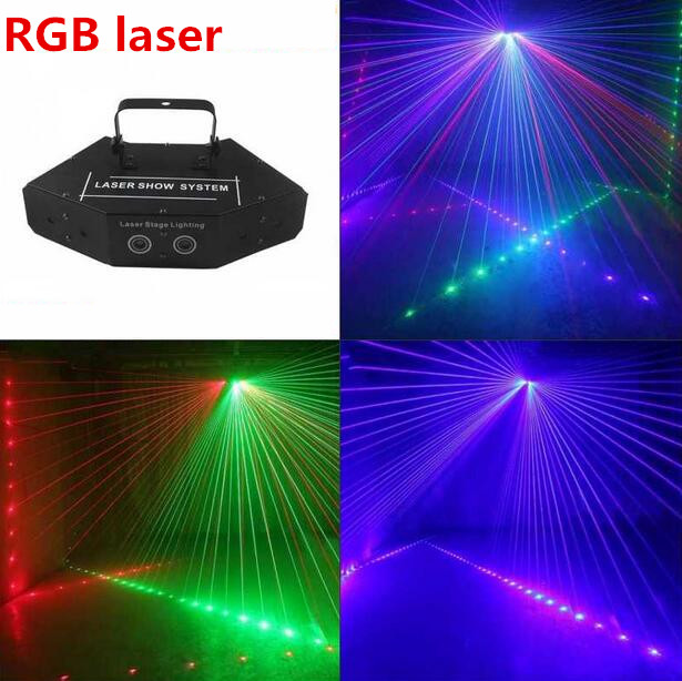 6 Eye Scanning RGB Laser Light For DJ Disco Club Stage Effect Light With Vce Control Party Disco Light Mass Effect Beam Light