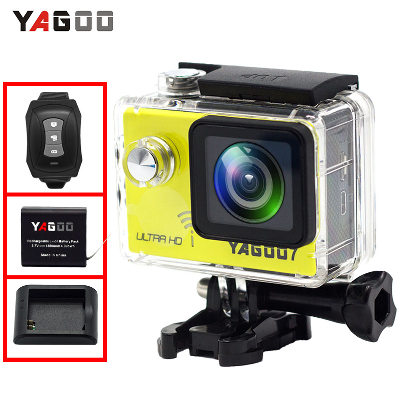 Yagoo7 Action Camera 4K Waterproof wifi Ultra HD 4K/24FPS 1080P/60FPS Bike Video Sports Camera DV Go 30M Mini Cam Pro rich action camera 4k wifi ultra hd 4k 30fps 1080p 60fps 14mp go waterproof 30m mini cam pro bike video sports camera