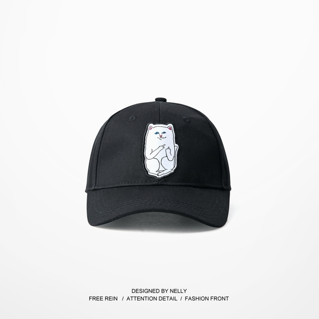 Ripndip Funny Cat Pattern Casquette Hats Adjustable Baseball Hip Hop Hearwear Skateboard Curve Brimmed Golf Snapback Caps