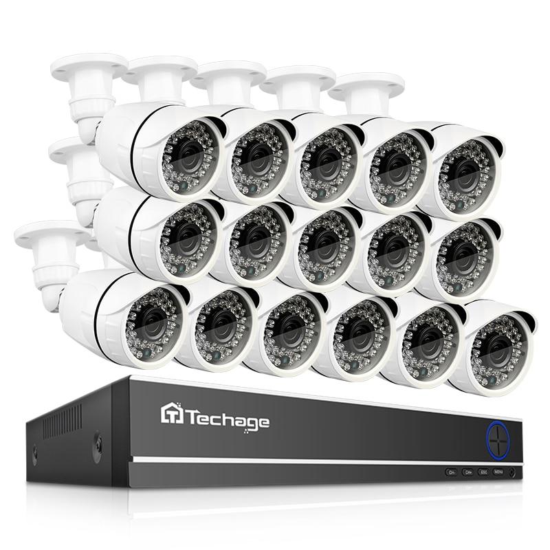 2MP Techage 16CH 1080 P AHD DVR Visão Nocturna do IR Da Câmera À Prova D' Água HD P2P Remoto Kit de Vigilância de Vídeo de Segurança Em Casa sistema de CFTV