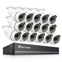 Techage 16CH 1080P AHD DVR 2MP Waterproof HD IR Night Vision Camera P2P Remote Video Surveillance Kit Home Security CCTV System