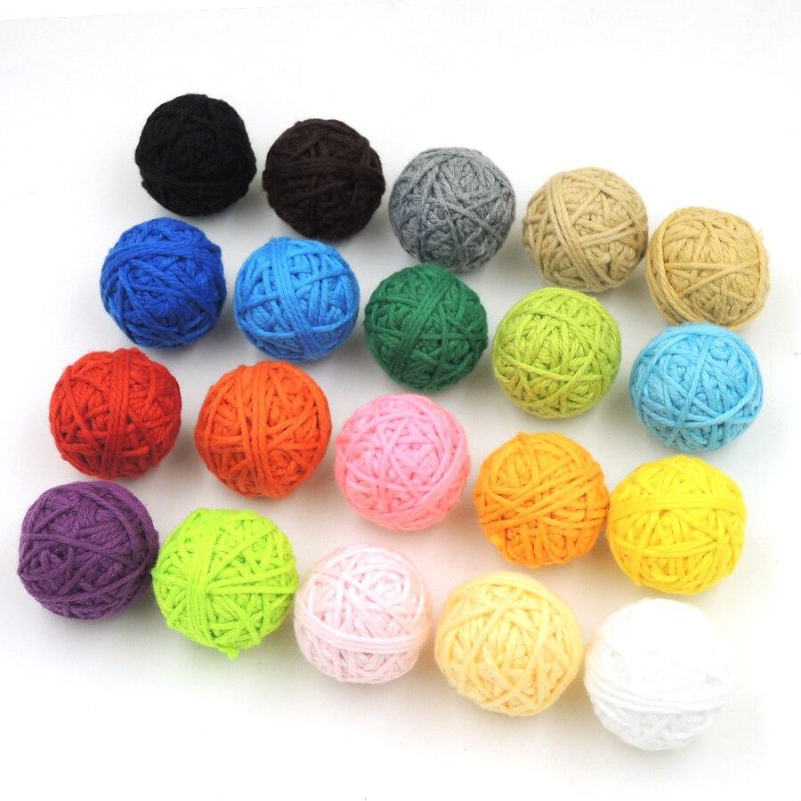 ⊱Granos DIY chunky crochet Voodoo bolas, declaración collar de ...