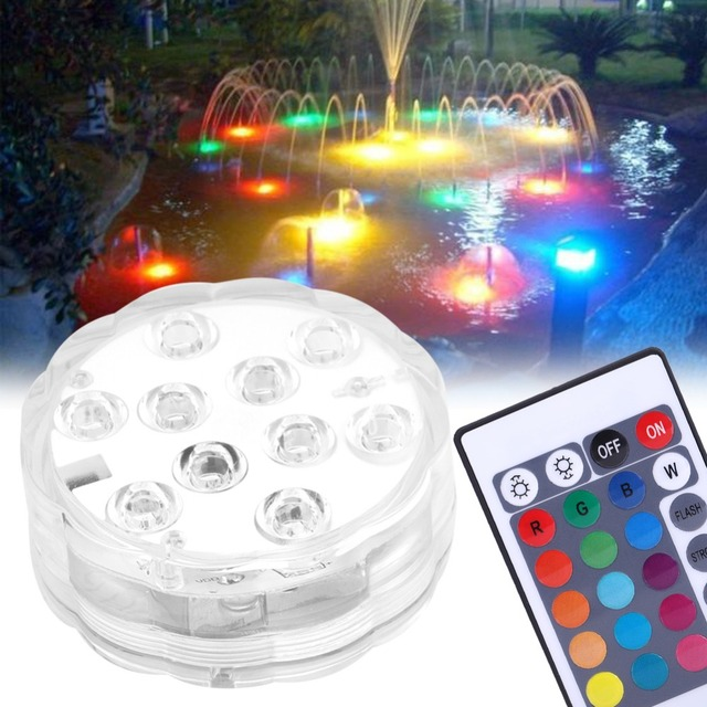 Led Waterproof Pool Lights 10 Colorful Flashing Aquarium Light Electronic Underwater Fish Tank Zwembad Verlichting