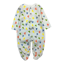 Купить с кэшбэком Baby Rompers Long Sleeves Comfortable Baby Sleepwear Toddler Infant Overalls Clothing Babies clothes Set Cotton Newborn Pajamas