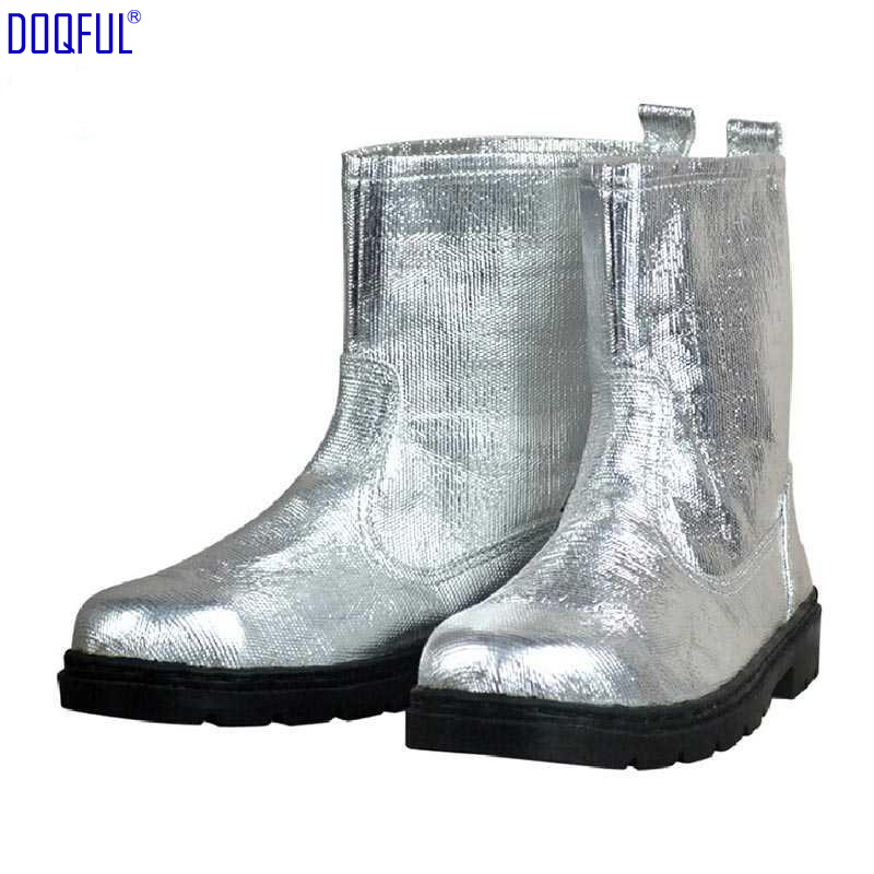 Composite Aluminium Foil Insulating Fire Fighting Safety Boots Heat Proof Shoes High Temperature Work Thermal Radiation Protect