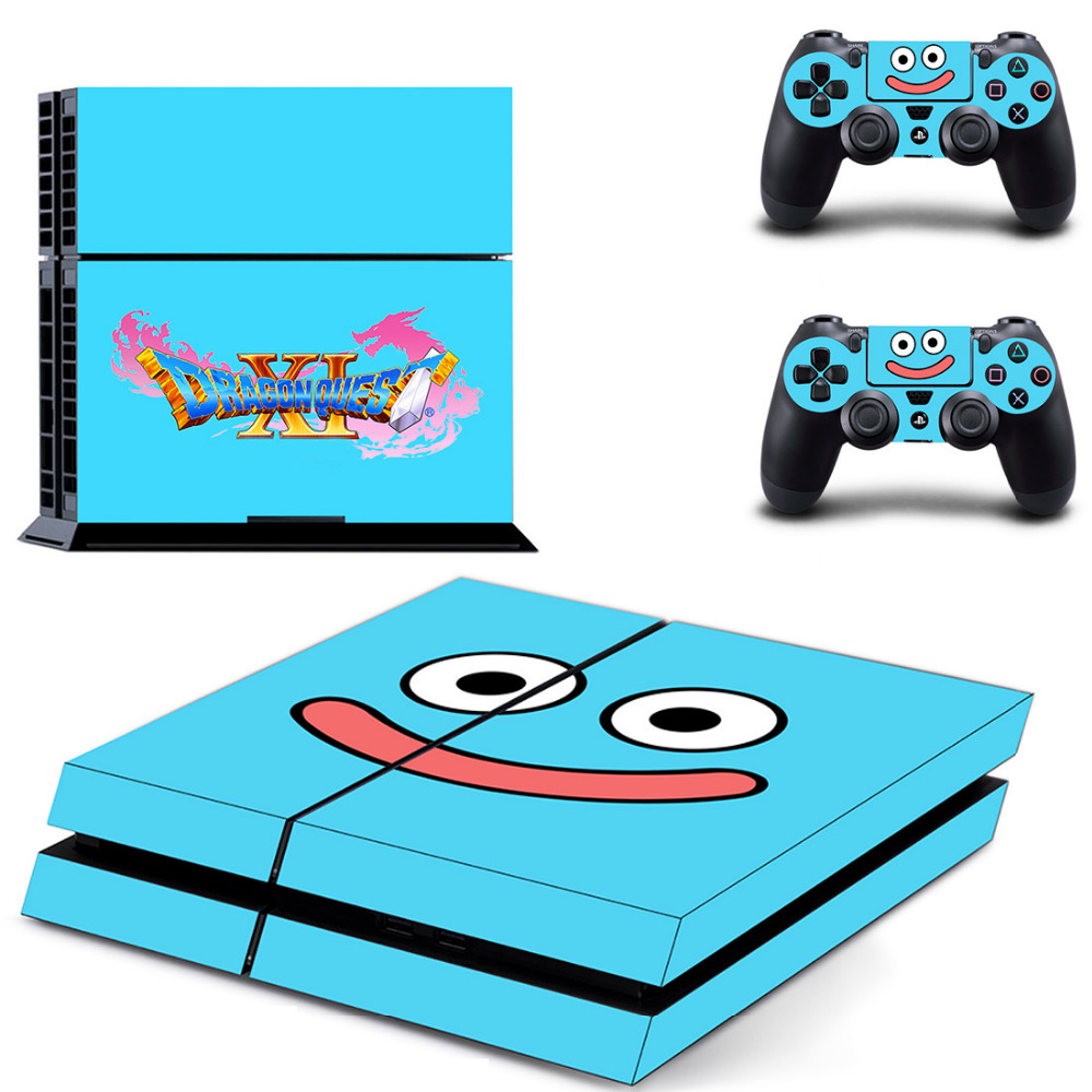 Game Dragon Quest PS4 Skin Sticker Decal for Sony PlayStation 4 Console and 2 Controller Skin PS4 Sticker Vinyl Accessory image