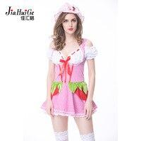 JiaHuiGe Sexy French Maid Costume Sweet Gothic Lolita Dress Anime Cosplay Sissy Maid Uniform Halloween Costumes for Women