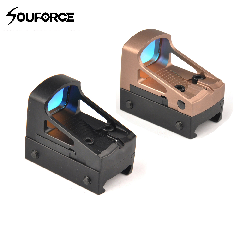 Orginal Tactical Optics Red Dot Sight Holographic Sight Hunting Scopes Reflex Sight with 20mm Weaver Rail For Airsoft hunting combo metal green dot laser sight led flashlight 200lm 3w with 20mm rail weaver picatinny for glock 17
