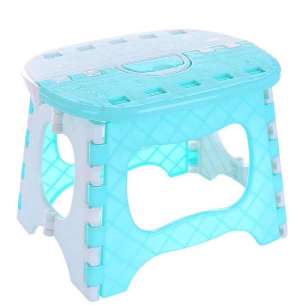 Пластмассовый складной стул с ручкой портативный легкий открытый Крытый складной стул для взрослых детей отлично подходит для кухни