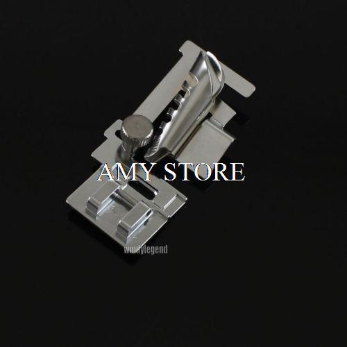 2x SNAP ON METAL BIAS TAPE BINDER FOOT FOR SEWING MACHINE PFAFF HOBBY JANOME HM-9907 5pcs lot high quality 2 pin snap in on off position snap boat button switch 12v 110v 250v t1405 p0 5