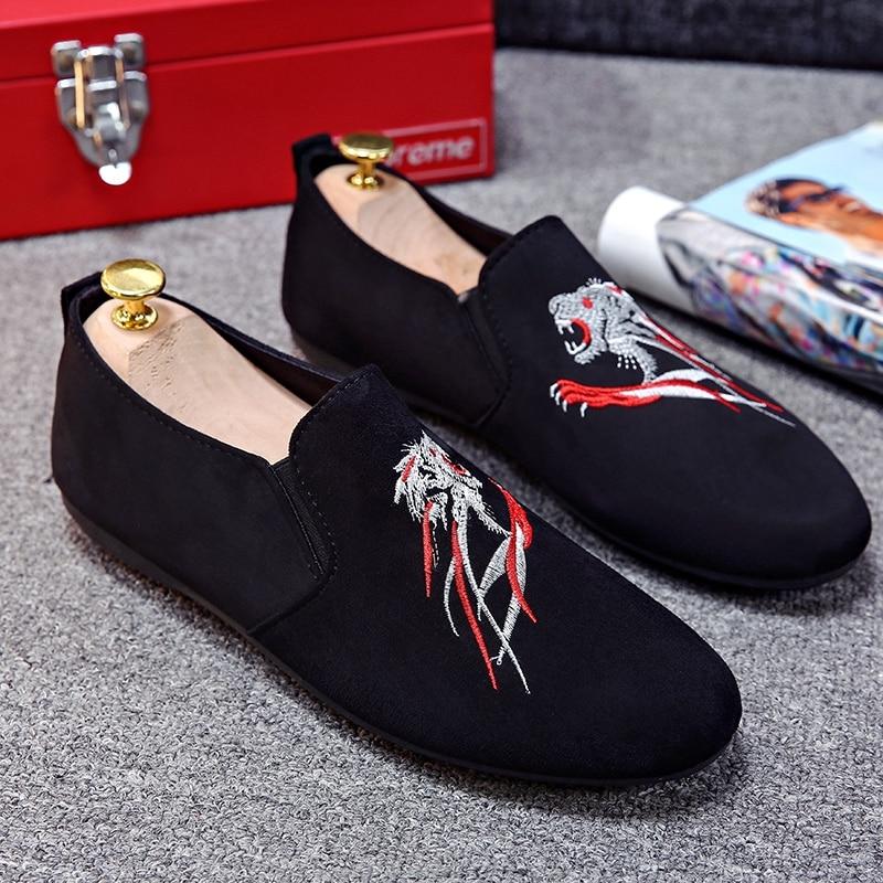 Mode Chaussure Calzado Mocassins Italien Hei Zapatillas Chaussures Hommes Mocassin Robe Conduite La Main Homme Velours Hombre À 8Pkn0wO