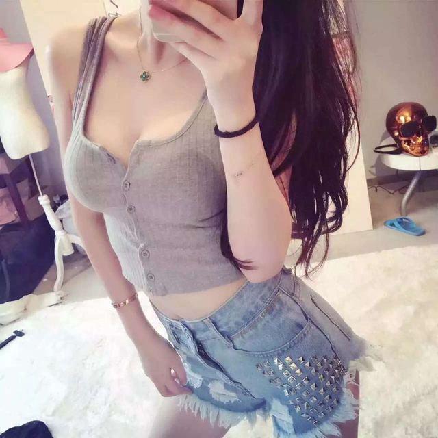 Summer 2016 Sexy Backless Front Button Shirt Women Cotton -5571