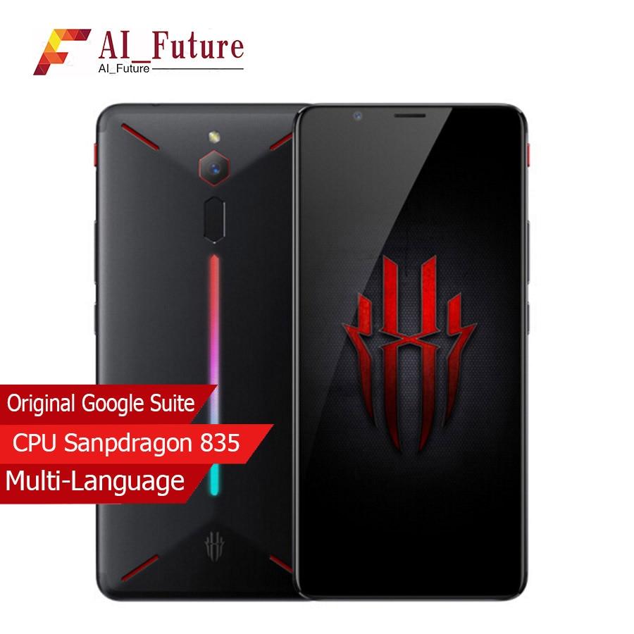 D'origine ZTE Nubia Rouge Magique Jeu Mobile Téléphone 6 Octa Core 8 gb 128 gb Plein Écran D'empreintes Digitales Android 8.1 4g LTE Smartphone
