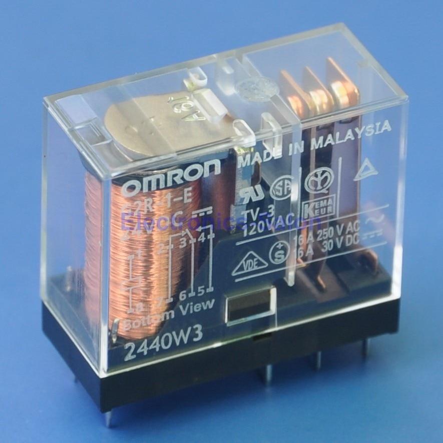 (2 Pcs/lot ) 16 Amp SPDT Power Relay, G2R-1-E 24V DC.