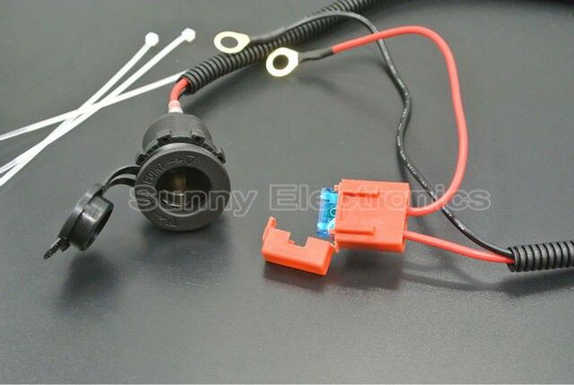 SUNSINE AUTO 12V Waterproof Motorcycle Cigarette Lighter Power Plug Outlet Socket