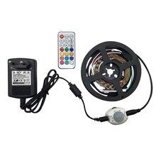 LED 2812 30/60/144LED Ambiance RGB light strips 1M Full Color Sensing Smart Home Light RF Remote Control IP65 Waterproof