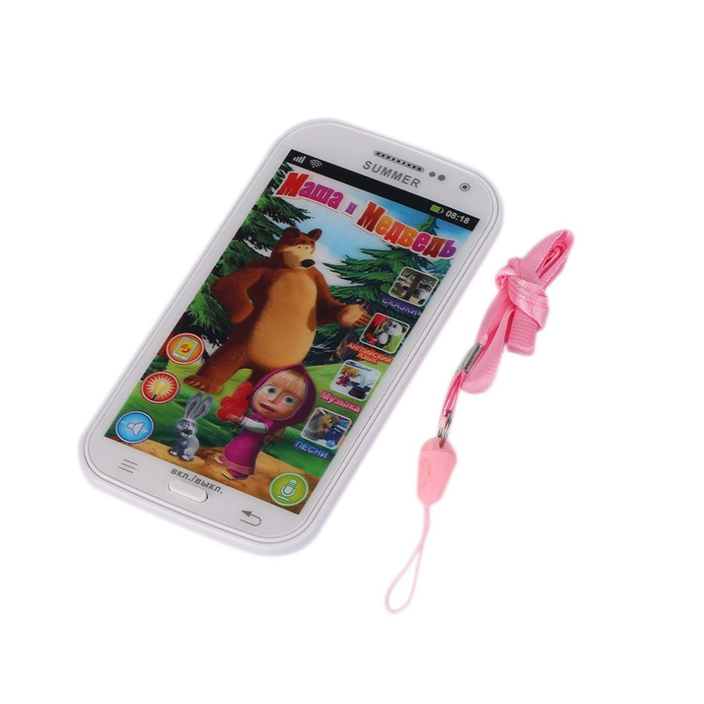 YKS Russian Language Children Mobile Toy Baby Phone Toy Talking and Bear Learning Machine education Electronic Toys for Kids