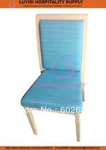Hot sale stackable woodgrain wood color Aluminum dining chair
