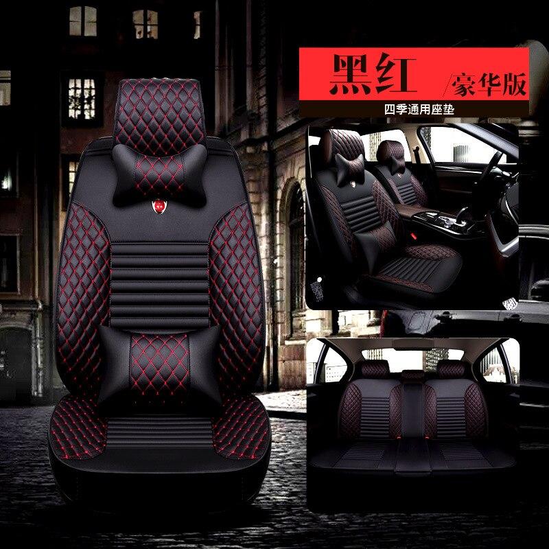 Housse de siège de voiture universelle en cuir, adaptée à la plupart des voitures, camions, Suv ou fourgons. Protège le coussin des sièges avant ou arrière
