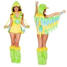 Señora de la Mujer Moda Ropa de Cosplay Mujeres de Halloween Traje del Funcionamiento de la Etapa Uniformes Cos Verdes B-4917