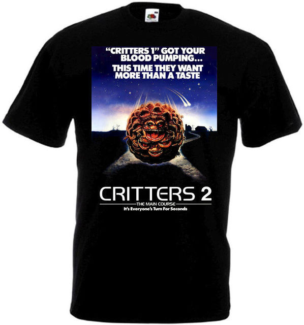 bc89b7a0ae6 CRITTERS 2 Movie Poster T Shirt All Sizes Black Hipster Tees Summer Mens T- Shirt New Fashion Men S T Shirts