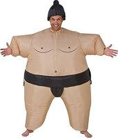 continuously inflatable sumo suits for adults