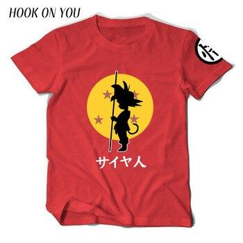 2017 Newest Japan Cartoon Dragon Ball Z Men T Shirt Sun Goku Print T-Shirt 100% Cotton Chic Cool Tees Funny Clothes Novelty Tops