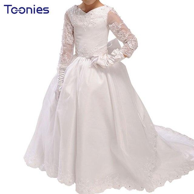 Weisse lange kleider kinder
