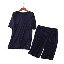 Summer Modal Pure color male Pajamas sets shorts sleepwear s