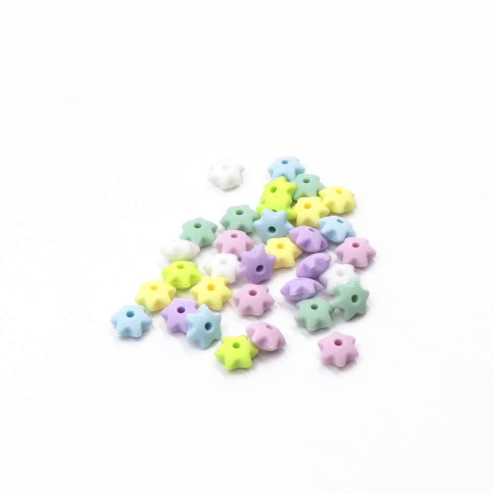 Tyry. hu 25 Pcs/lot Heksagram Bintang Berbentuk Silikon Beads untuk Perhiasan Membuat Bpa Gratis Makanan Grade Silikon Bayi Tumbuh Gigi Mengunyah Manik-manik