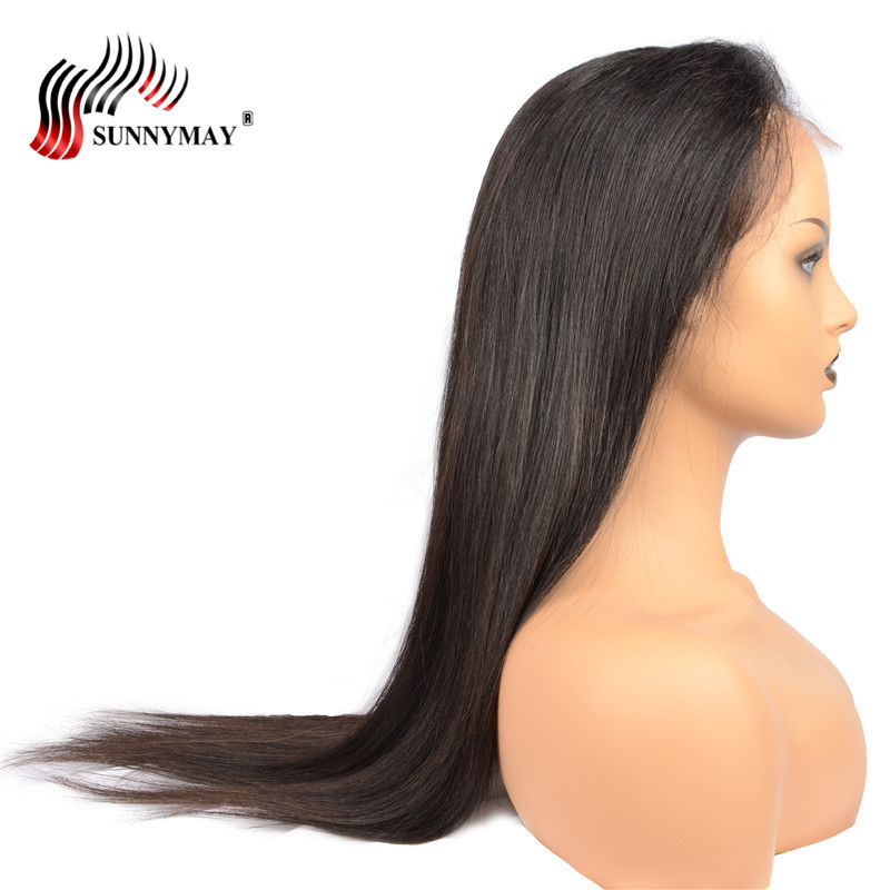 Sunnymay Peruvian Virgin Hair Full Lace Human Hair Wigs Silk Straight Pre Plucked Lace Wig With Baby Hair For Black Woman